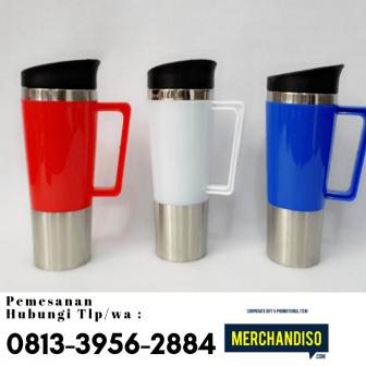 Produksi souvenir tumbler custom bisa dikirim ke Batam