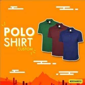 Custom polo shirt nama perusahaan atau pribadi di jakarta