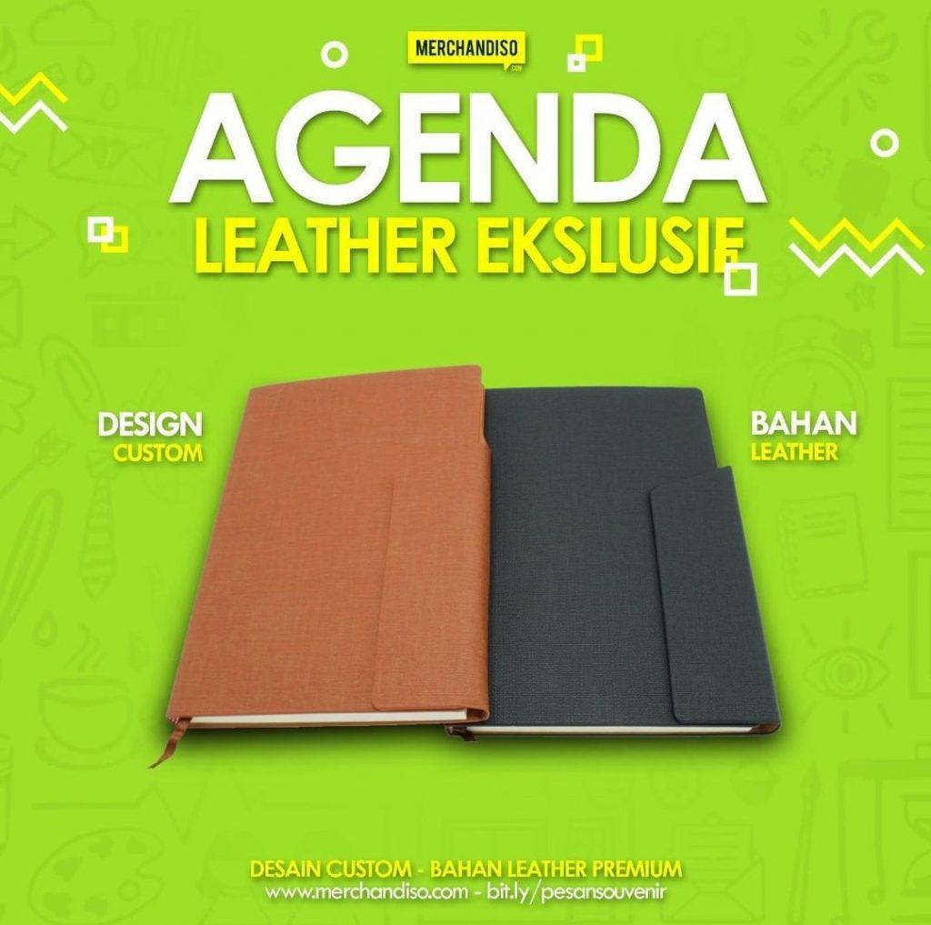 sampul buku agenda kulit promosi