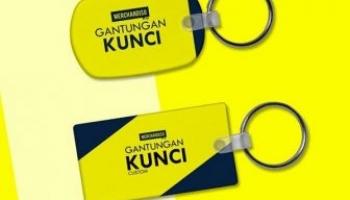 Jual gantungan kunci custom promosi logo nama perusahaan