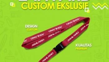 Lanyard custom logo promosi murah berkualitas di jakarta