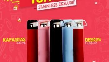 Jual souvenir tumbler promosi custom bahan stainless berkualitas